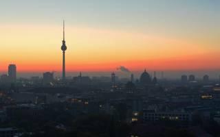 Berlin, Deutschland, Hauptstadt, Städtetrip, Sonnenuntergang, Fernsehturm