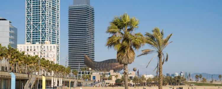Barcelona, Spanien, Strand